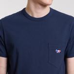 Мужская футболка Maison Kitsune Tricolor Fox Patch Navy фото- 4