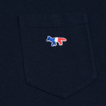 Мужская футболка Maison Kitsune Tricolor Fox Patch Navy фото- 2