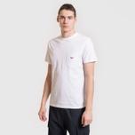 Мужская футболка Maison Kitsune Tricolor Fox Patch White фото- 3
