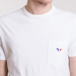 Мужская футболка Maison Kitsune Tricolor Fox Patch White фото- 4