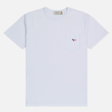 Мужская футболка Maison Kitsune Tricolor Fox Patch White