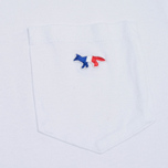 Мужская футболка Maison Kitsune Tricolor Fox Patch White фото- 2