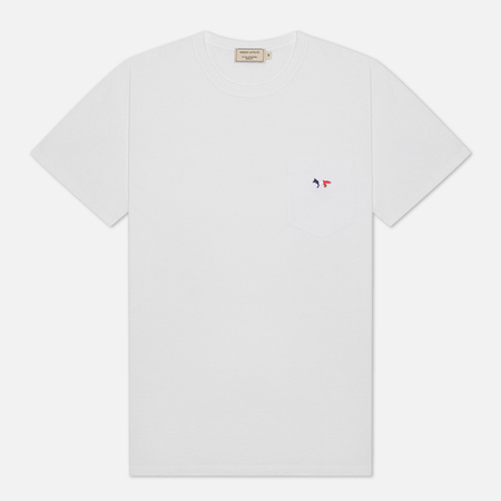Maison Kitsune Tricolor Fox Patch Men's T-Shirt White