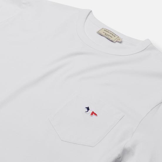 Мужская футболка Maison Kitsune Tricolor Fox Patch White