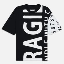 Мужская футболка Maison Margiela All Over Print Fragile Black фото- 0
