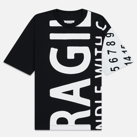 Мужская футболка Maison Margiela All Over Print Fragile Black