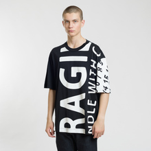 Мужская футболка Maison Margiela All Over Print Fragile Black фото- 1