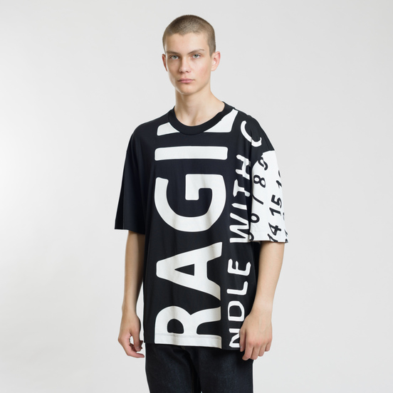 Мужская футболка Maison Margiela All Over Print Fragile Black