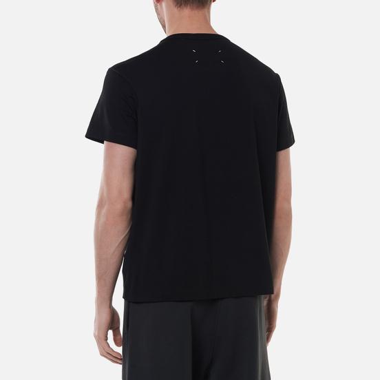 Мужская футболка Maison Margiela Embroidered Text Logo Black