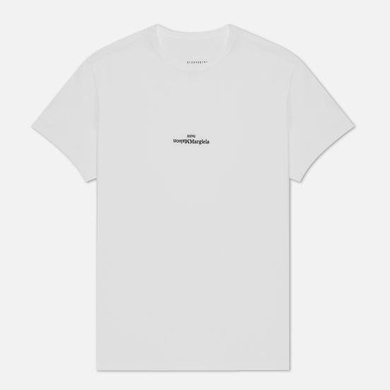 Мужская футболка Maison Margiela Embroidered Text Logo White