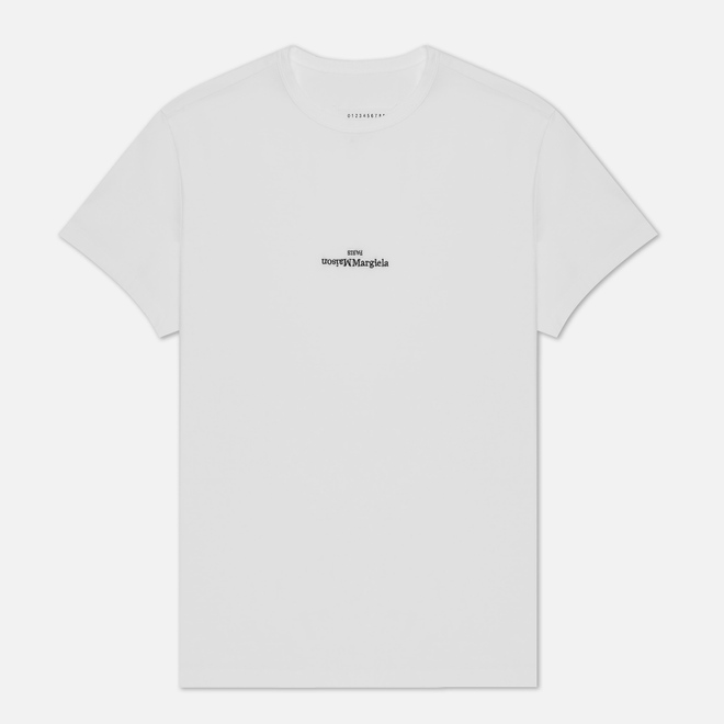 Мужская футболка Maison Margiela Embroidered Text Logo White
