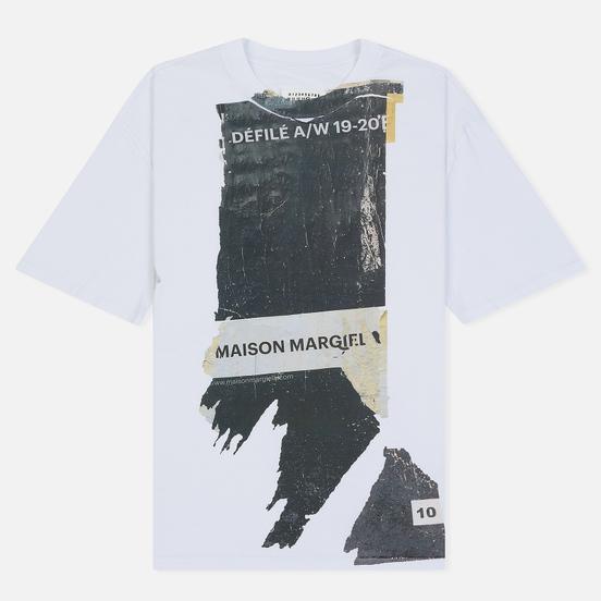 Мужская футболка Maison Margiela Front Defile A/W 19 Print White