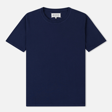 Мужская футболка Maison Margiela Garment Dyed Crew Neck Ink Blue