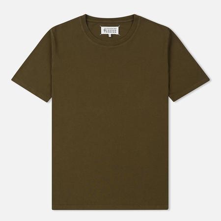 Мужская футболка Maison Margiela Garment Dyed Crew Neck Olive