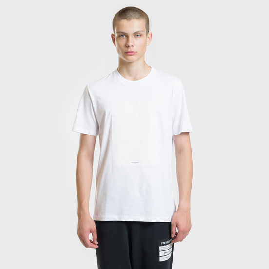 Мужская футболка Maison Margiela Logo Printed Patch White