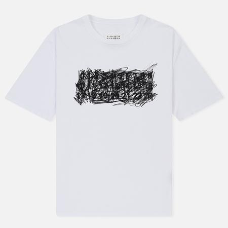 Мужская футболка Maison Margiela Scribble Logo Print White