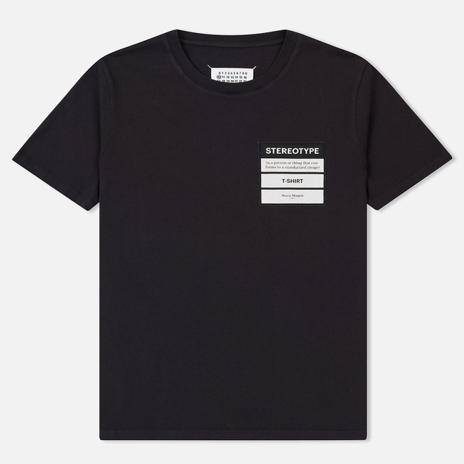 Мужская футболка Maison Margiela Stereotype Patch Black