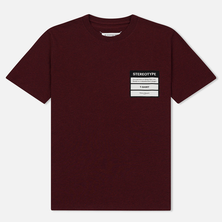 Мужская футболка Maison Margiela Stereotype Patch Bordeaux Melange