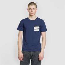 Мужская футболка Maison Margiela Stereotype Patch Ink Blue фото- 1