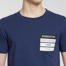 Мужская футболка Maison Margiela Stereotype Patch Ink Blue фото- 2
