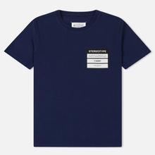 Мужская футболка Maison Margiela Stereotype Patch Ink Blue фото- 0