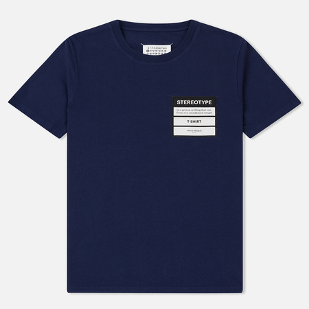 Мужская футболка Maison Margiela Stereotype Patch Ink Blue