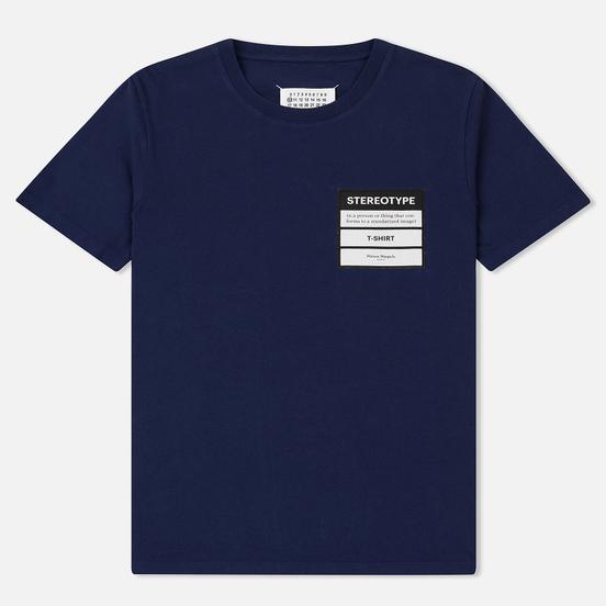 Мужская футболка Maison Margiela Stereotype Patch Ink Blue