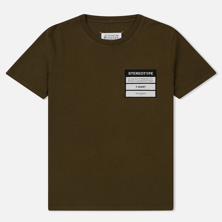 Мужская футболка Maison Margiela Stereotype Patch Olive