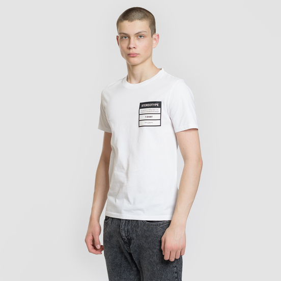 Мужская футболка Maison Margiela Stereotype Patch White