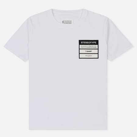 Мужская футболка Maison Margiela Stereotype Patch White