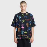Мужская футболка Marcelo Burlon All Over Sketch Over Multicolor/White фото- 1
