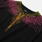 Мужская футболка Marcelo Burlon Bezier Wings Basic Black/Fuchsia Fluo фото - 1