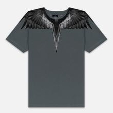 Мужская футболка Marcelo Burlon Black Wings Anthracite/Black фото- 0
