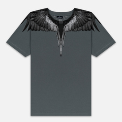 Мужская футболка Marcelo Burlon Black Wings Anthracite/Black