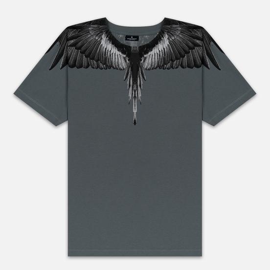 Мужская футболка Marcelo Burlon Black Wings Anthracite/Black