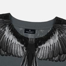 Мужская футболка Marcelo Burlon Black Wings Anthracite/Black фото- 1