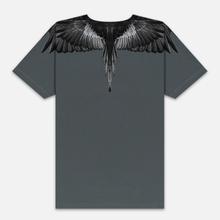 Мужская футболка Marcelo Burlon Black Wings Anthracite/Black фото- 2