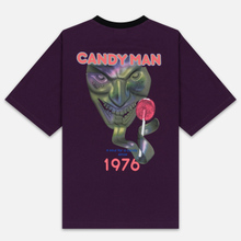 Мужская футболка Marcelo Burlon Candyman Over Black/Multicolor фото- 3