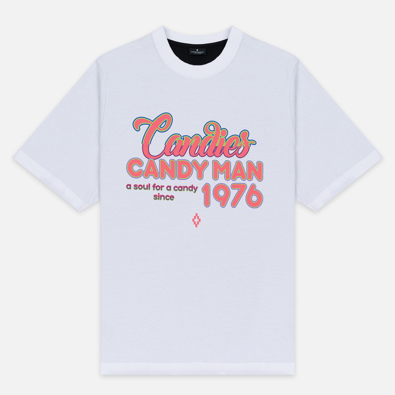 Мужская футболка Marcelo Burlon Candyman Over White/Multicolor