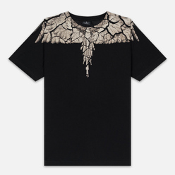 Мужская футболка Marcelo Burlon Earth Wings Black/Brown