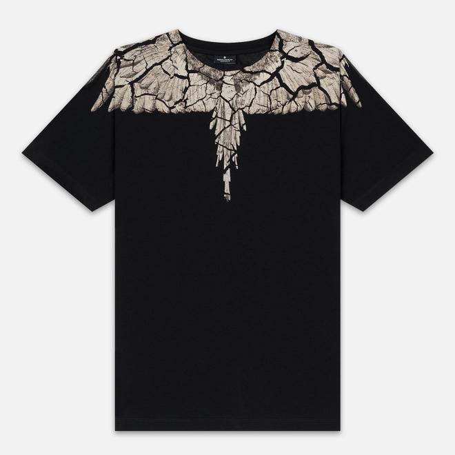Мужская футболка Marcelo Burlon Earth Wings Black/Brown