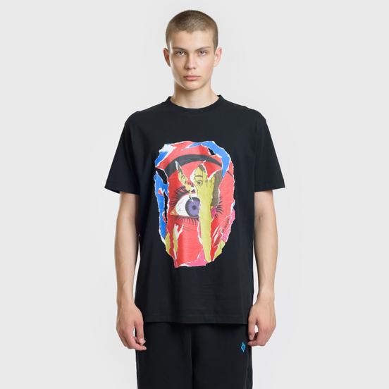 Мужская футболка Marcelo Burlon Eye Black/Multicolor