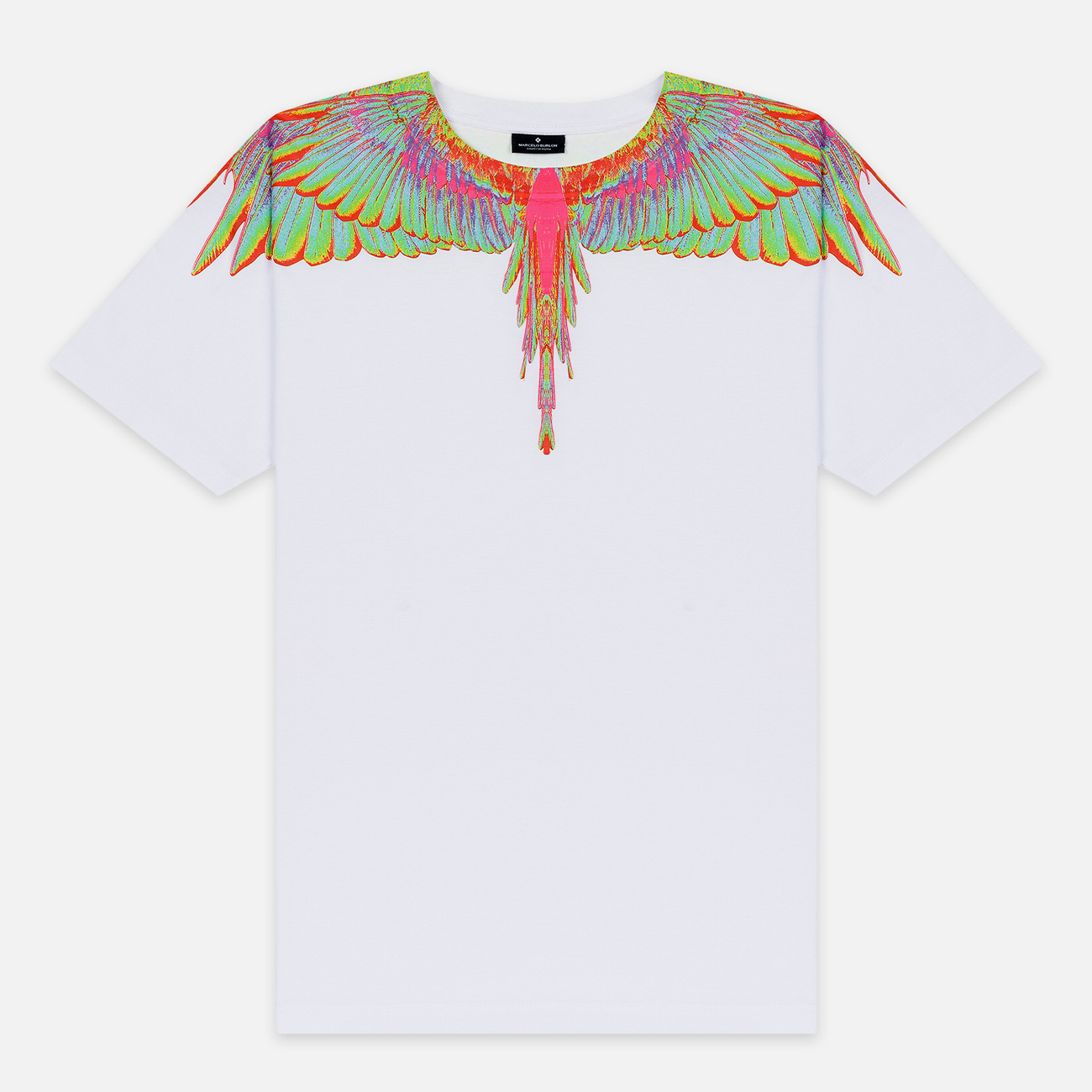 Мужская футболка Marcelo Burlon Fluo Wings White/Light Blue