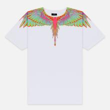 Мужская футболка Marcelo Burlon Fluo Wings White/Light Blue фото- 0