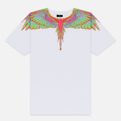 Мужская футболка Marcelo Burlon Fluo Wings White/Light Blue