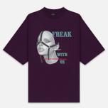 Мужская футболка Marcelo Burlon Freak Over Dark Purple/Multicolor фото- 0