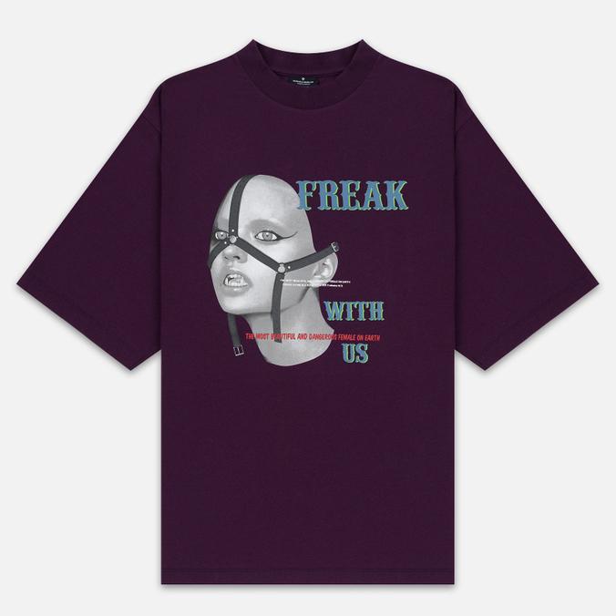 Мужская футболка Marcelo Burlon Freak Over Dark Purple/Multicolor