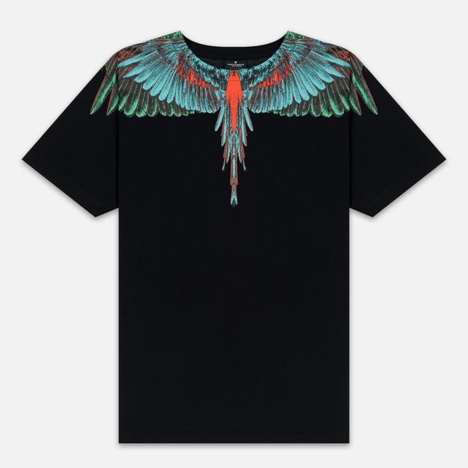 Мужская футболка Marcelo Burlon Green Wings Black/Green