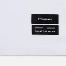 Мужская футболка Marcelo Burlon Logo White/Black фото- 3