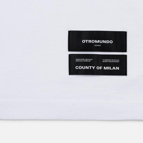 Мужская футболка Marcelo Burlon Logo White/Black
